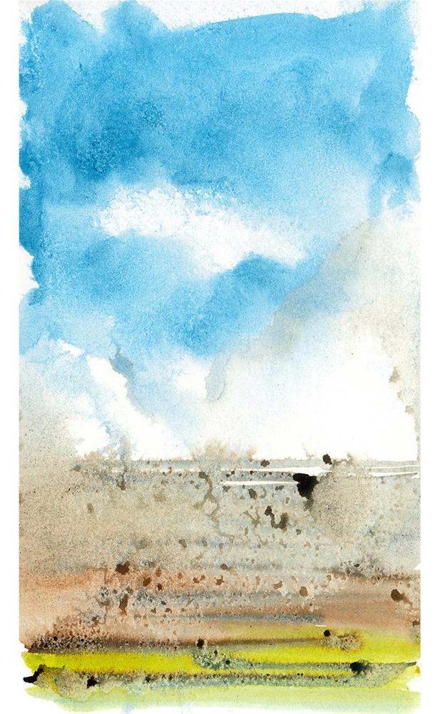 """Left Coast Impressions 3"" original fine art by Tonya Doughty"