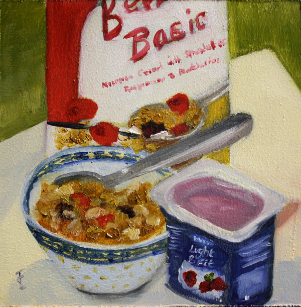 """Basic Breakfast"" original fine art by Jane Frederick"