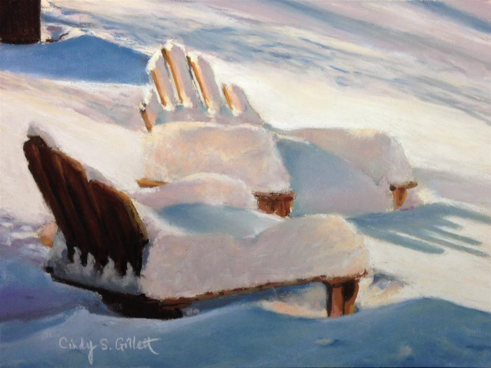 """Snowed In"" original fine art by Cindy Gillett"