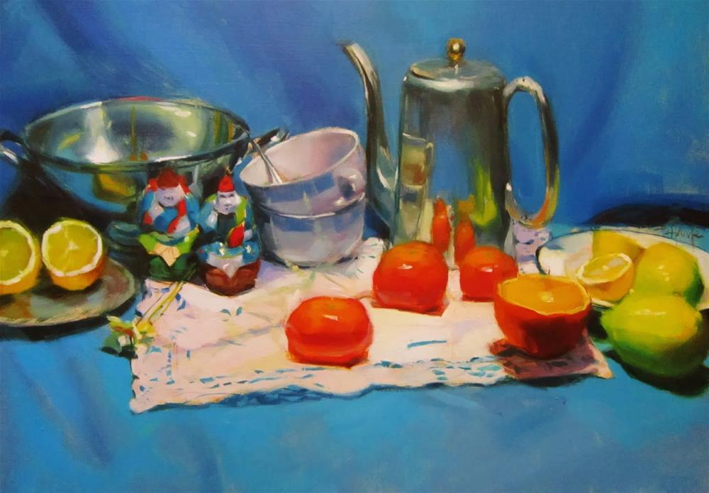 """Reflects on the kettle"" original fine art by Víctor Tristante"