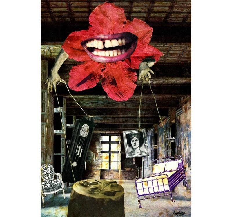 """Memories - collage,mixed media"" original fine art by Linda Apple"