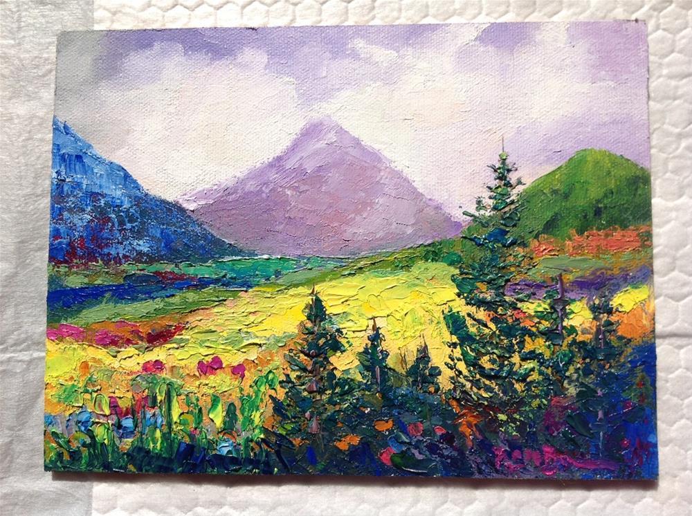 """The California Hills"" original fine art by Rose Brenner"