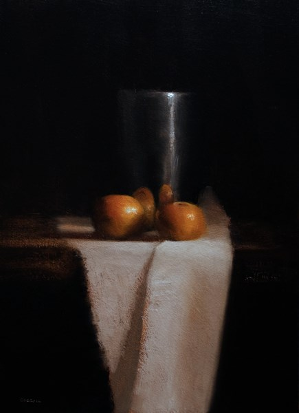 """""""Cup with Clementines"""" original fine art by Neil Carroll"""