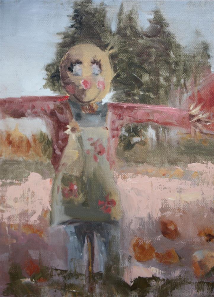 """Garden Guardian"" original fine art by Pamela Sweet"