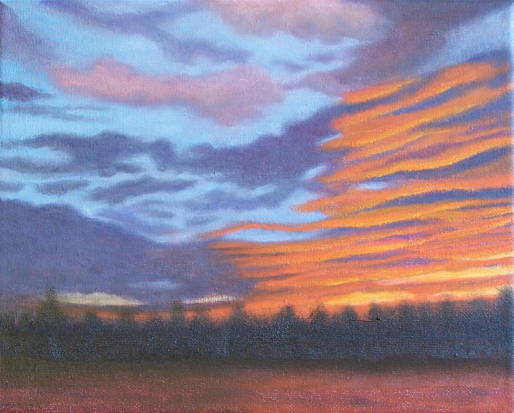 """Blazing sunset #1"" original fine art by John Marcum"