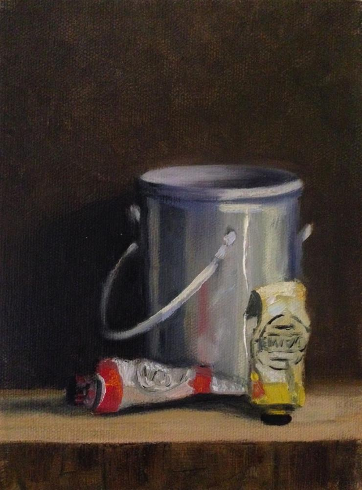 """""""Turp Can"""" original fine art by Judith Anderson"""