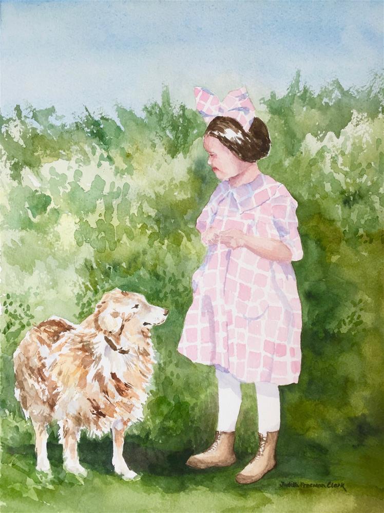 """Thelma and the Dog"" original fine art by Judith Freeman Clark"