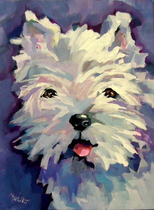 """Peppy"" original fine art by Laurie Mueller"