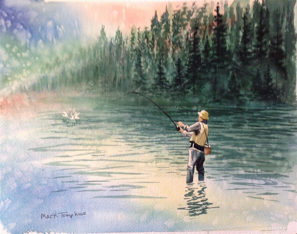 """""""Catch of the Day"""" original fine art by Mark Tompkins"""