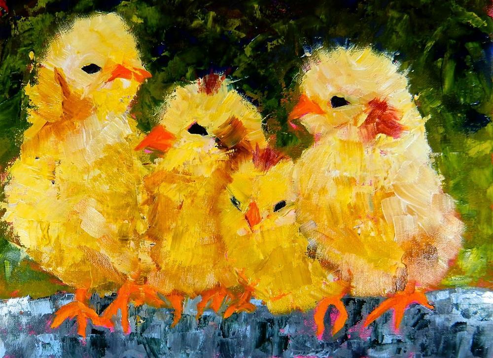 """Quattro Pulcini"" original fine art by Phyllis Davis"