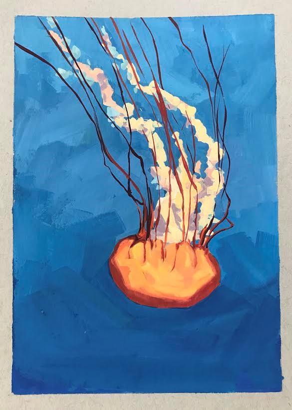 """""""Jellyfish"""" original fine art by Sharon Schock"""