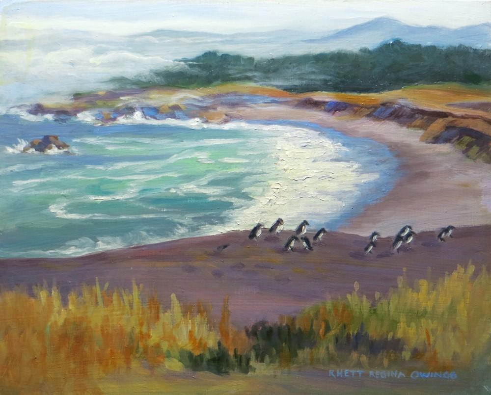 """Coastal Beach"" original fine art by Rhett Regina Owings"