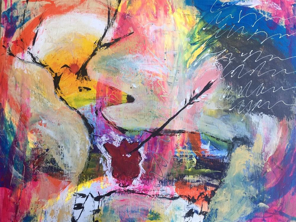 """""""568 Deer"""" original fine art by Jenny Doh"""