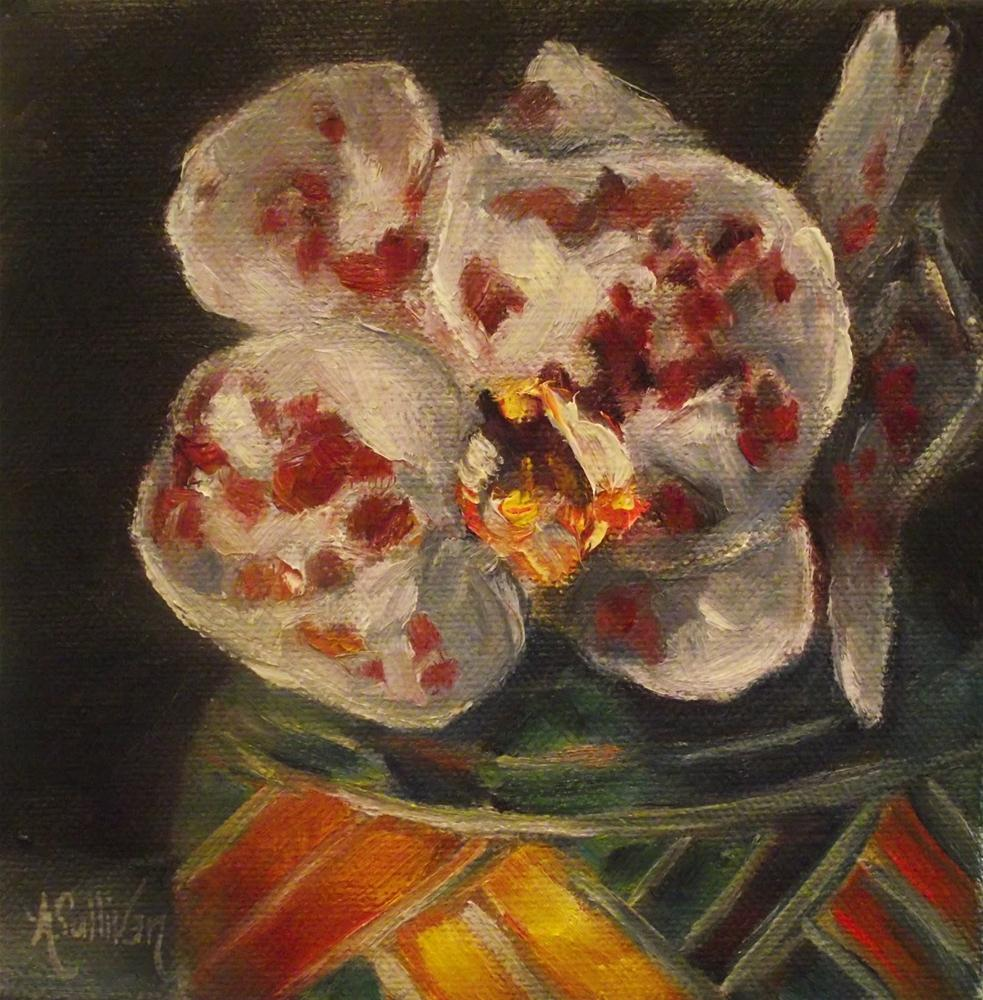 """""""White with a Touch of Red"""" original fine art by Angela Sullivan"""