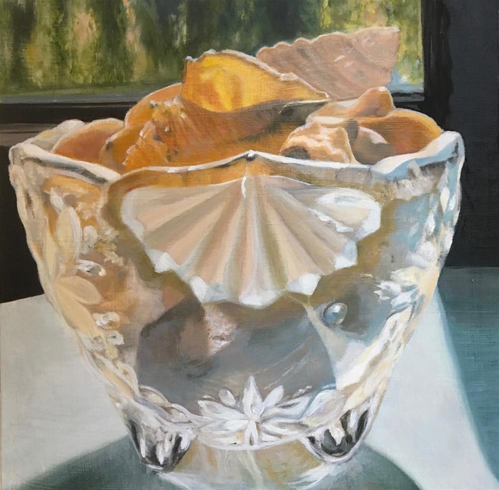 """Seashells in glass"" original fine art by Karen Stitt"
