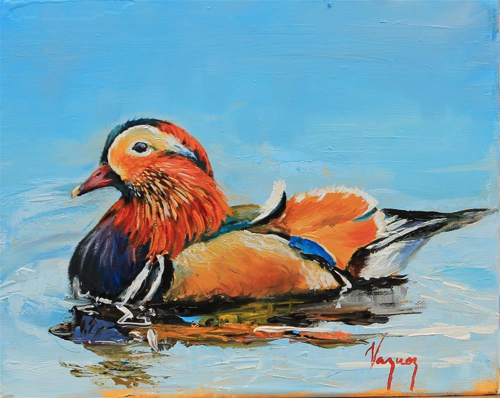 """Mandarin duck"" original fine art by Marco Vazquez"