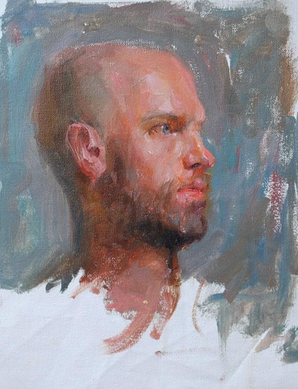 """portrait study"" original fine art by Taisia Kuklina"