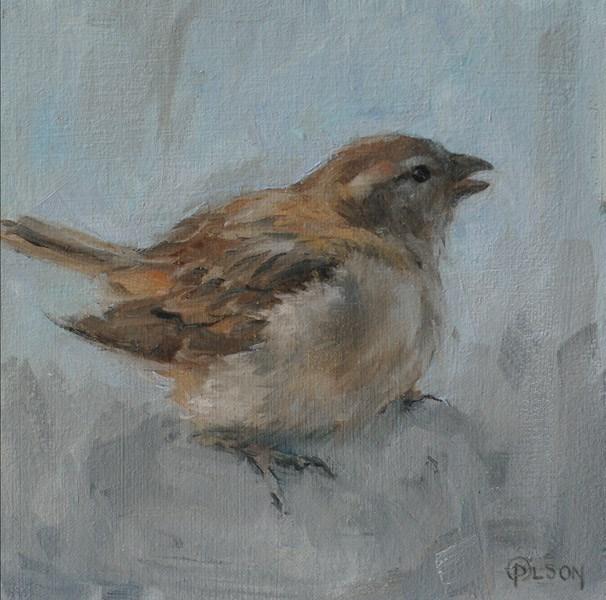 """""""Little Brown Thing-1"""" original fine art by Priscilla Olson"""