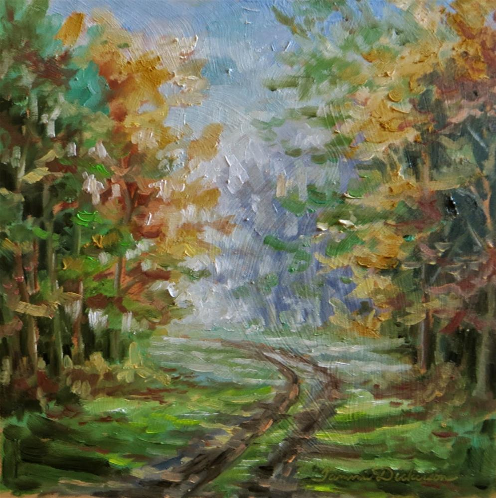 """Path in Autumn"" original fine art by Tammie Dickerson"