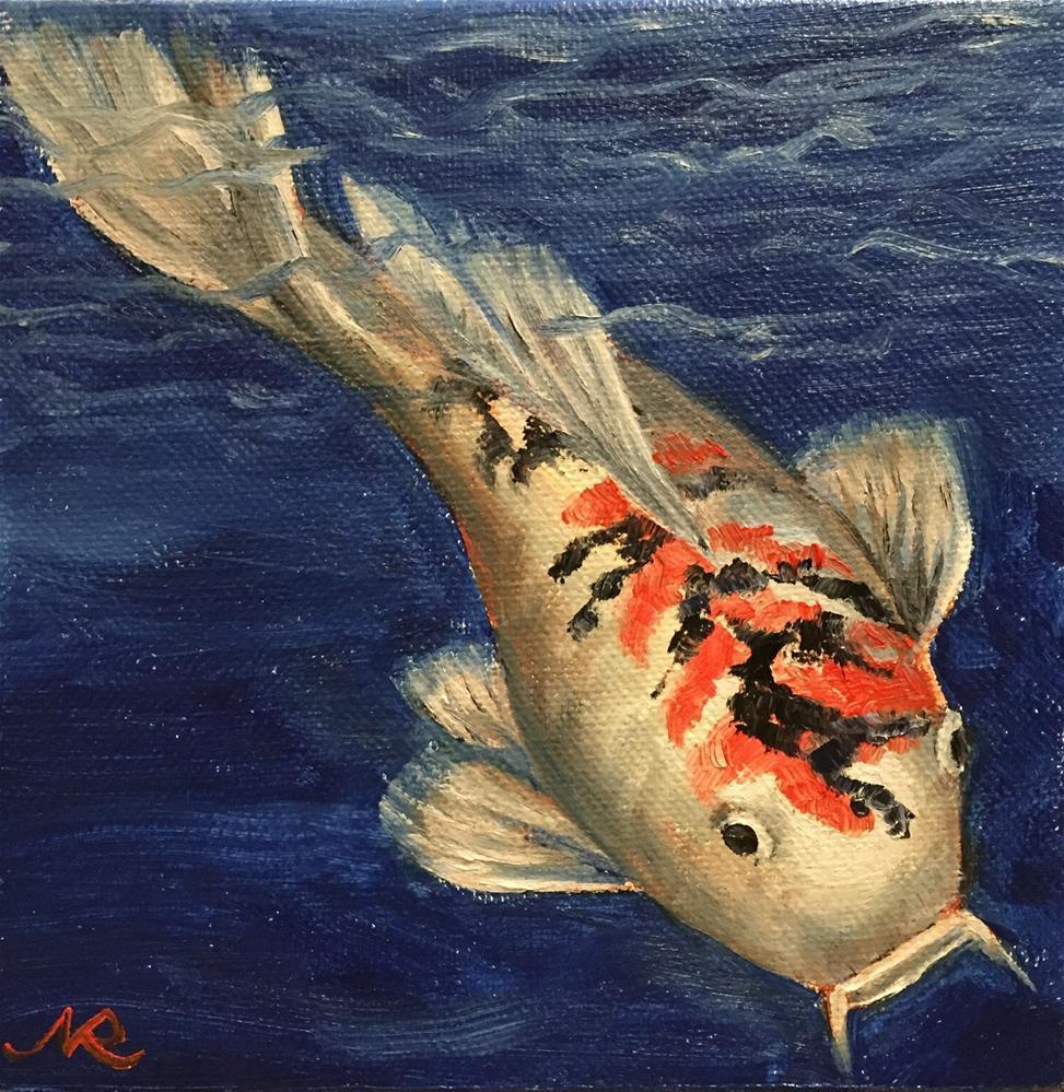 """Koi 4"" original fine art by Natasha Ramras"