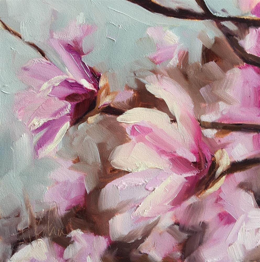 """Magnolia"" original fine art by Hallie Kohn"