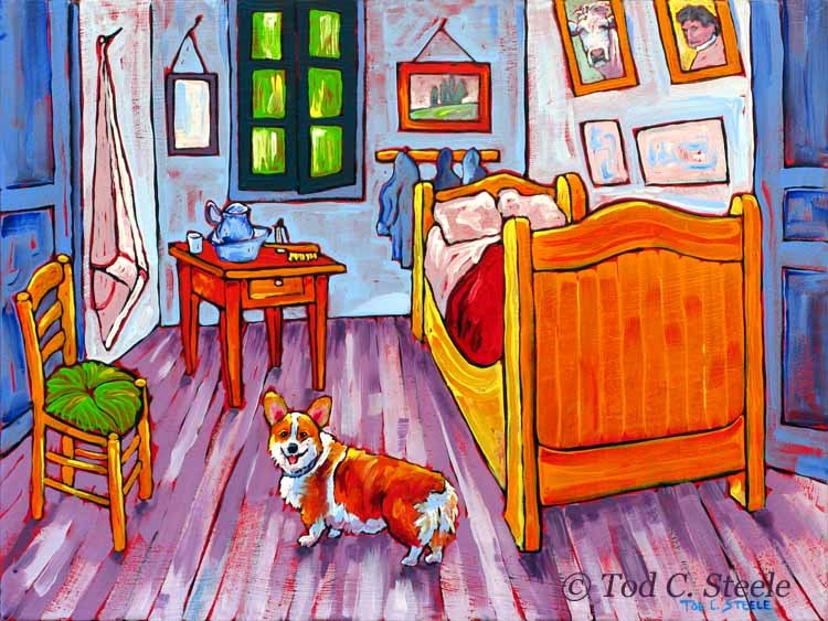 """""""Vincent Should Have Had a Dog by Tod C. Steele"""" original fine art by Tod Steele"""