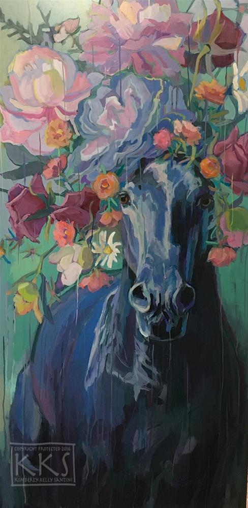 """Black Rose"" original fine art by Kimberly Santini"