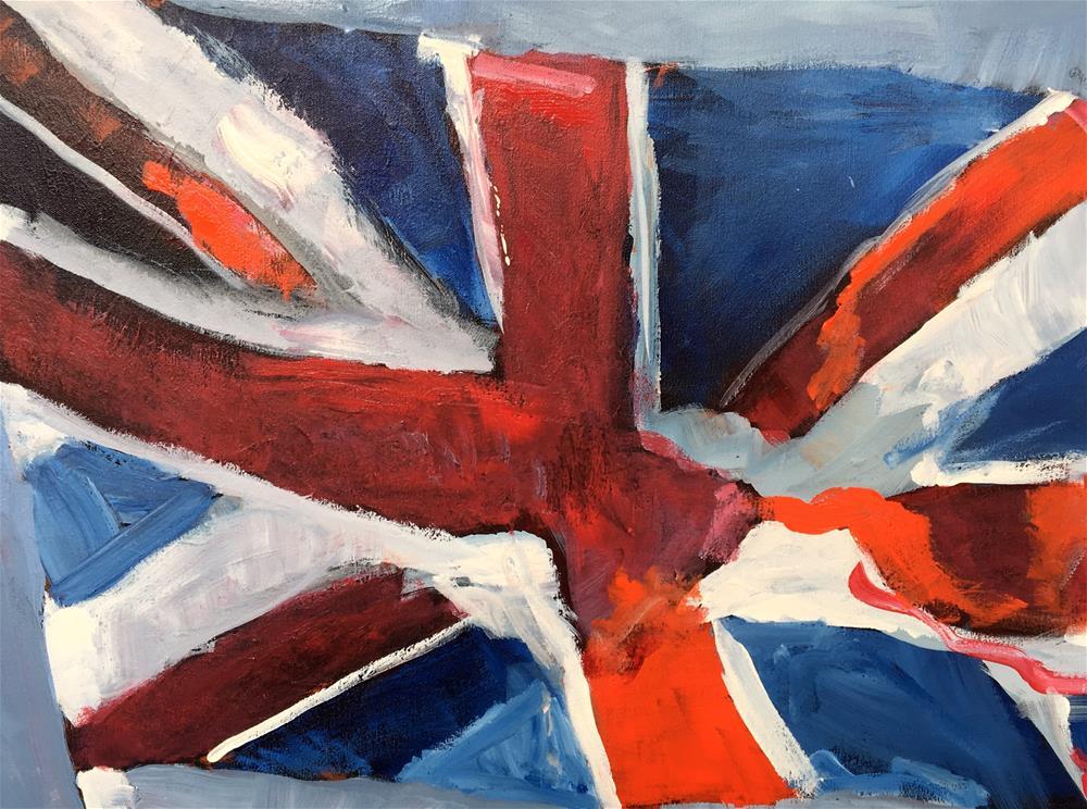 """Union Jack"" original fine art by Susan Elizabeth Jones"