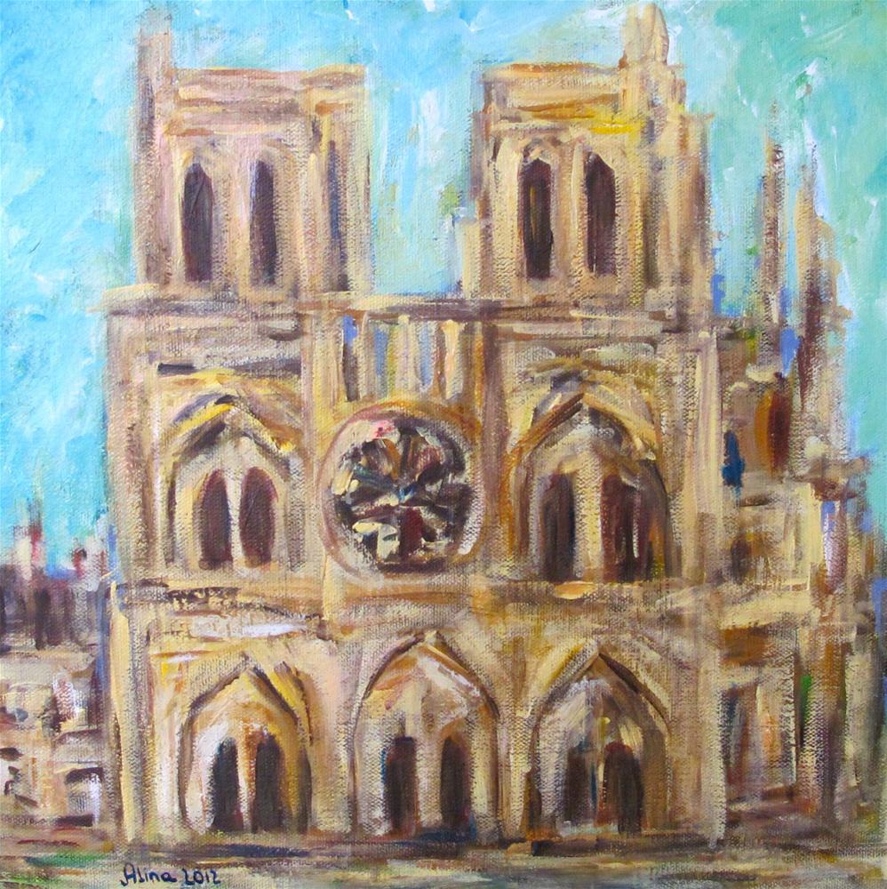 """""""Notre Dame de Paris"""" original fine art by Alina Vidulescu"""