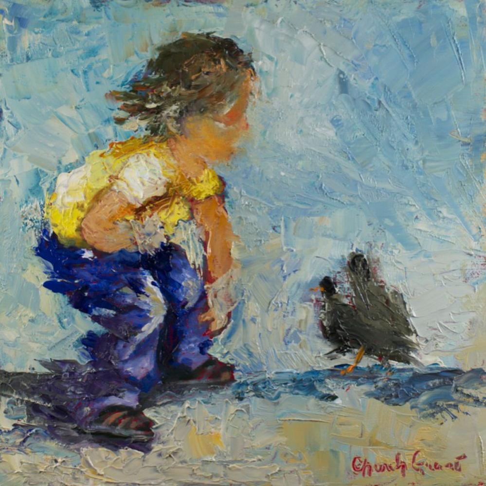 """Nice Birdies"" original fine art by Sue Churchgrant"