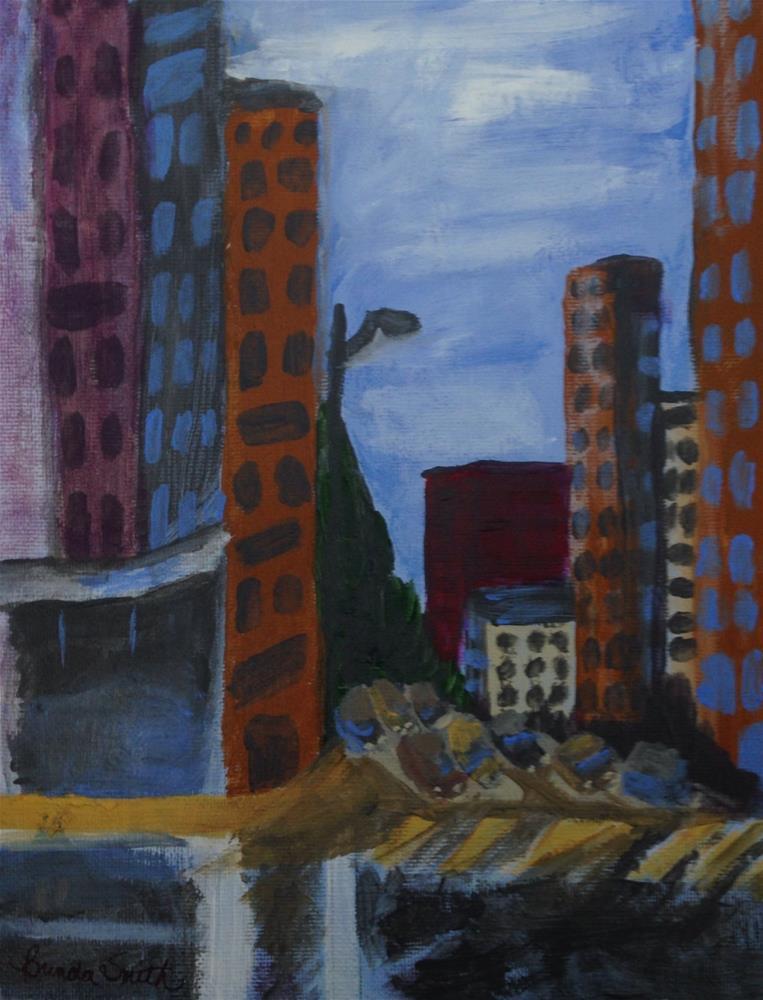 """Gritty City"" original fine art by Brenda Smith"
