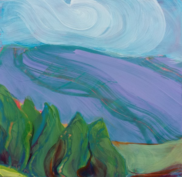 """Valley Morning 34"" original fine art by Pam Van Londen"