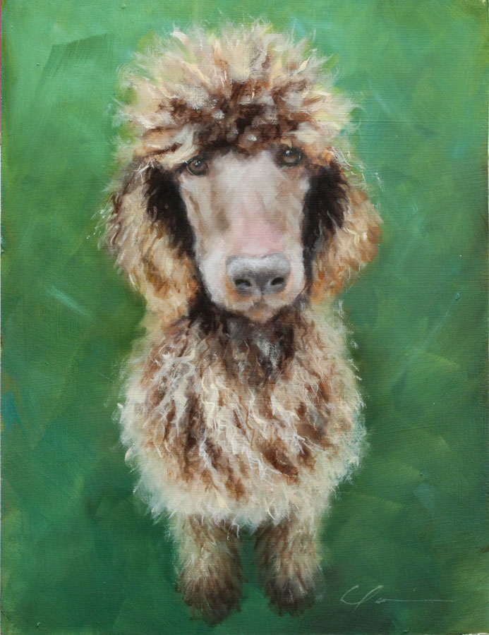 """Fritz Commission"" original fine art by Clair Hartmann"