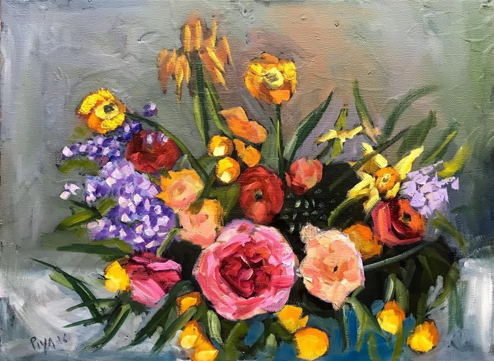 """Florals 12"" original fine art by Piya Samant"