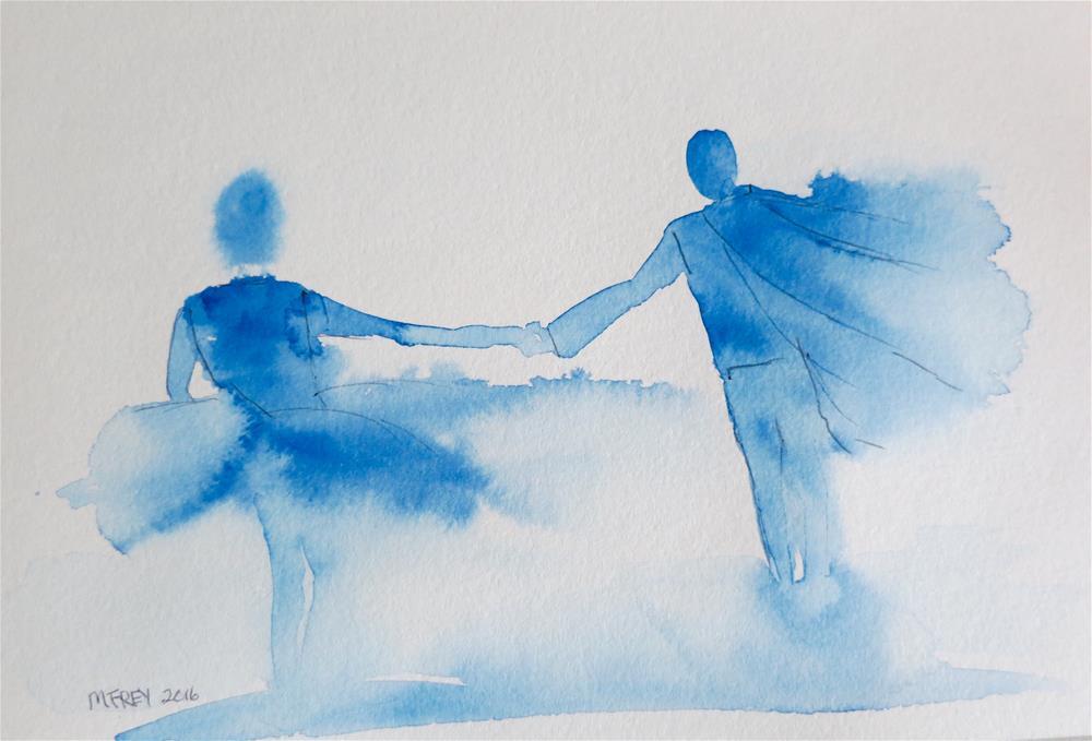 """Partners 0101"" original fine art by Michelina Frey"