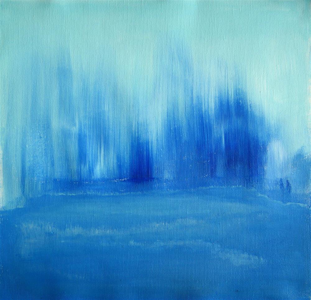 """Lost In Winter's Blue"" original fine art by Alina Frent"