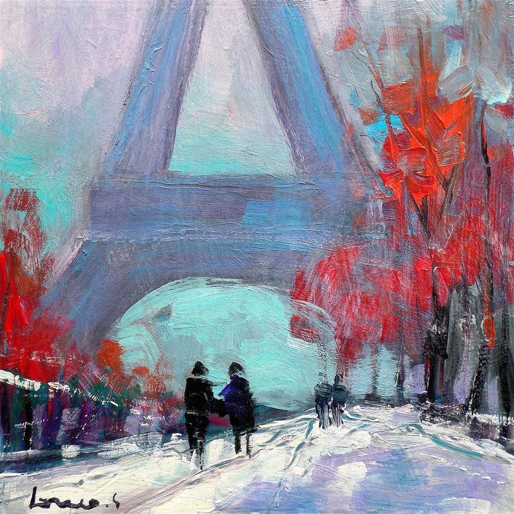"""Paristour effel"" original fine art by salvatore greco"