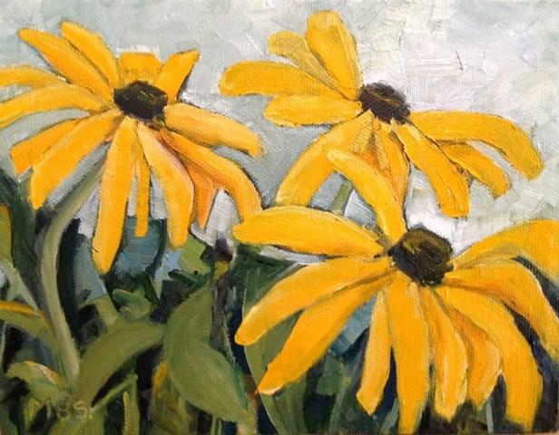 """Flowers for Pat"" original fine art by Marcela Strasdas"