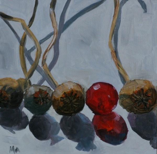 """Lining up"" original fine art by Aniko Makay"