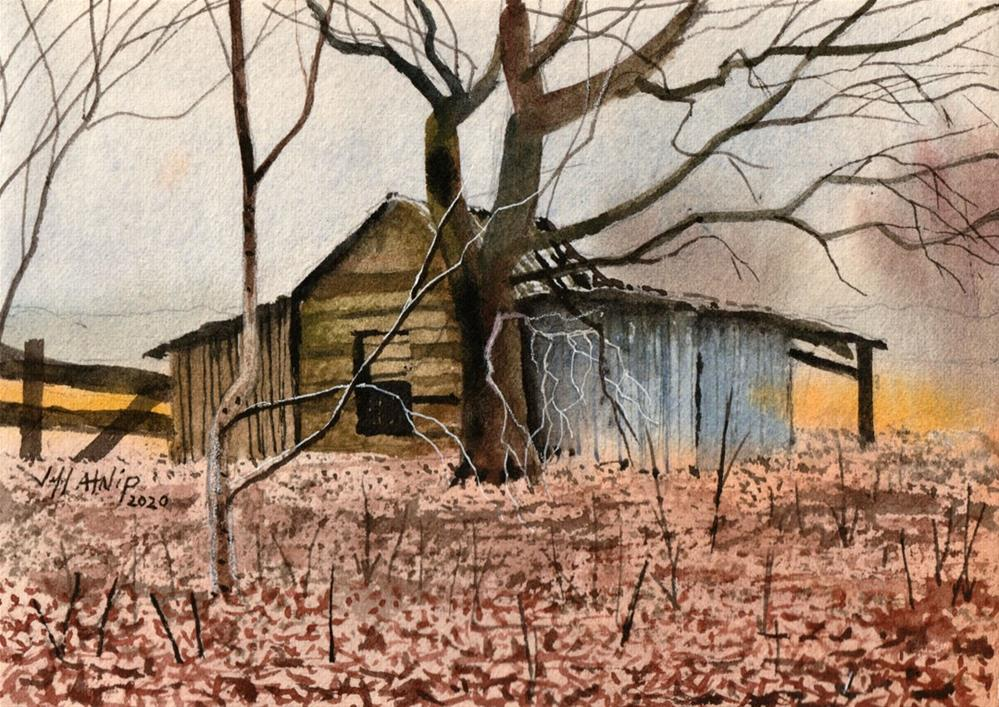 """Behind The Shed"" original fine art by Jeff Atnip"