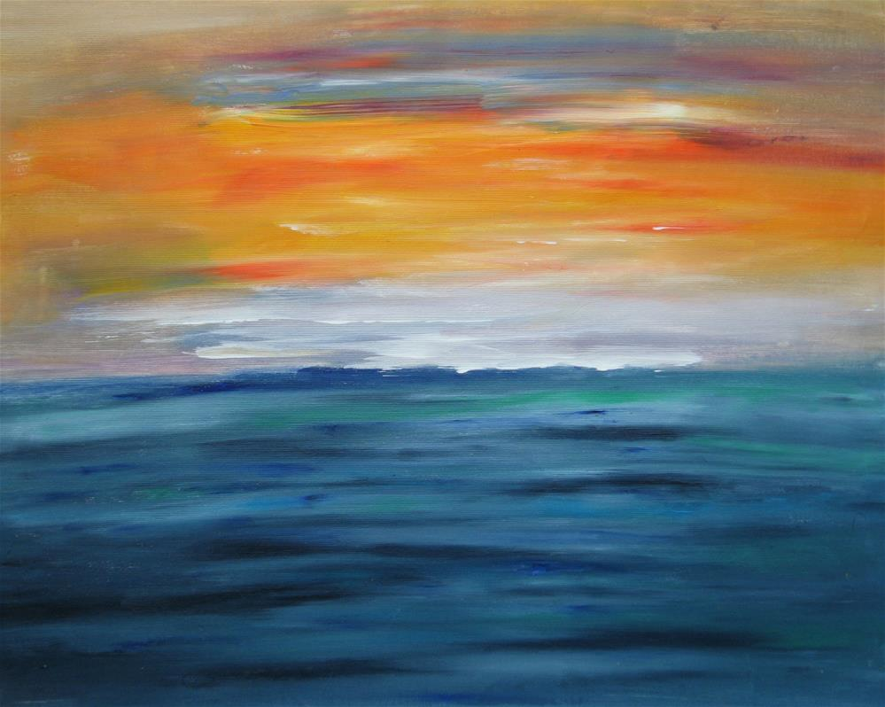 """Colorful Seascape"" original fine art by Alina Frent"