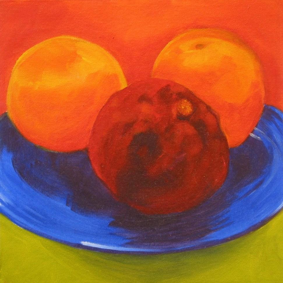 """Blue Plate Special"" original fine art by Patricia Murray"