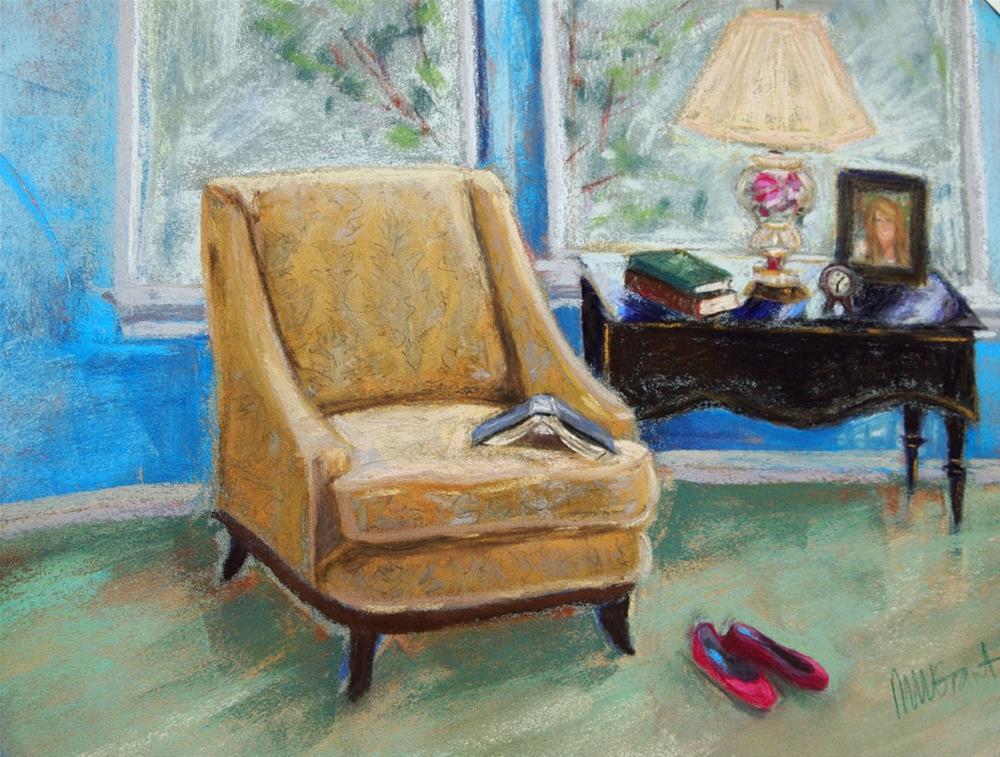 """Curl Up"" original fine art by Michelle Wells Grant"