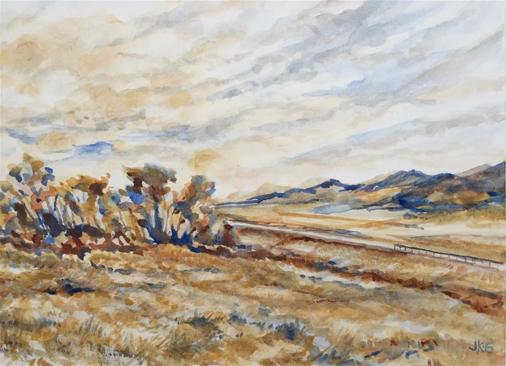 """Colorado HWY 69 South"" original fine art by Jean Krueger"