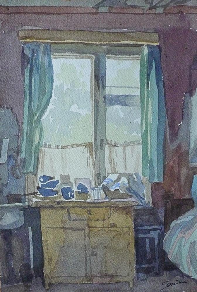 """Country window"" original fine art by Elena Senina"