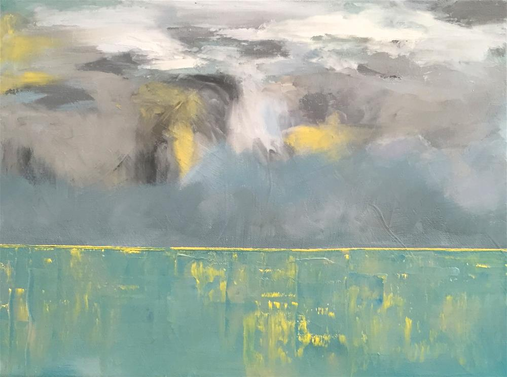 """Storm On The Horizon"" original fine art by Janet Bludau"