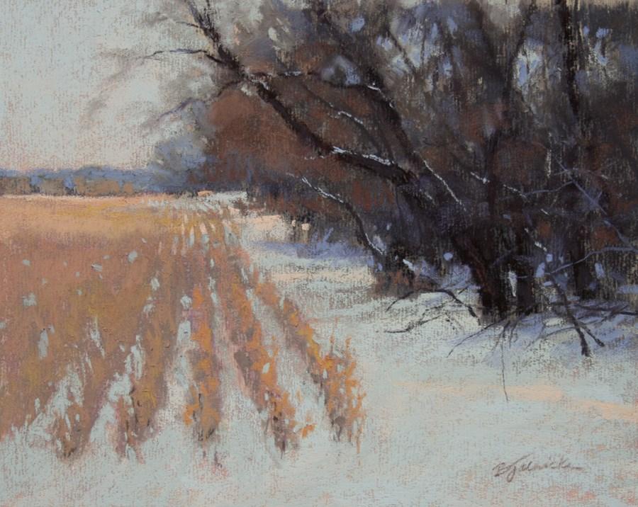 """Along the Corn Field"" original fine art by Barbara Jaenicke"