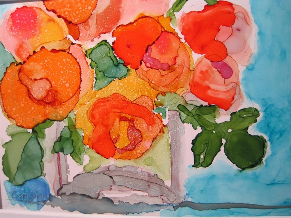 """313 Roses Gone Wild"" original fine art by Diane Campion"