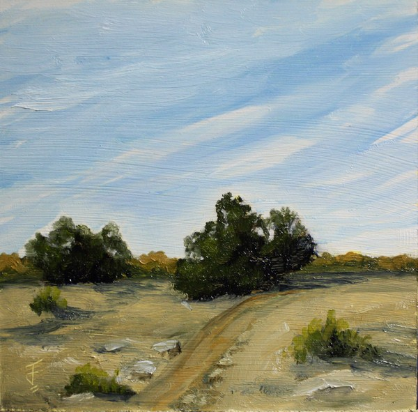 """""""Dirt Road to Nowhere"""" original fine art by Jane Frederick"""