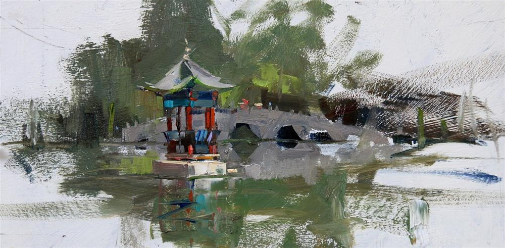 """Demo at Lijiang 2017"" original fine art by Qiang Huang"